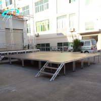 China GF Alloy 4floors Portable Stage Platform For Sound System wholesale