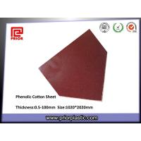 China Cotton Cloth Reinforced Phenolic Sheet with Excellent Machining Property wholesale