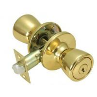 China Commercial Furniture Key Lock Door Knob , Push Button Door Knob wholesale