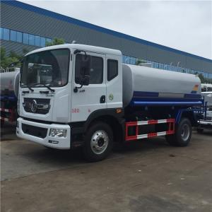 China Stainless Steel 190HP Water Tanker Truck , 90km/H Dongfeng Water Truck wholesale