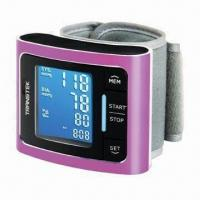 China Digital Wrist Blood Pressure Monitor with Alumina Panel, LED Backlight and Adjustable Pressure Cuff wholesale