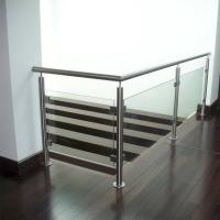 China Indoor Stainless Steel Tempered Glass Railings Handrail Philippines wholesale