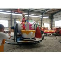 China Indoor / Outdoor Teacup Amusement Ride With Under Base And Transmission System wholesale