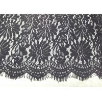 Buy cheap Black Eyelash Lace Fringe Trim With Scalloped Edge For Bridal / Lingerie / Veils / Costumes from wholesalers