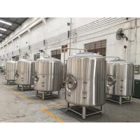 Quality Stainless Steel Jacketed Beer Brewing Tank , Hotel Beer Serving Tank wholesale