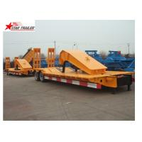 China Stable Loading Heavy Duty Semi Trailers Leaf Spring Suspension With Anti - Slip Strip wholesale