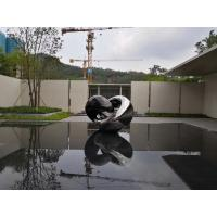 China Polished Abstract Mirrored Surface Metal Sculpture Artist As Villa Decoration on sale