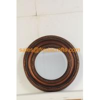 China FR-16720 Antique Style Wall Decorative Round Resin Framed Mirror wholesale