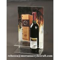 China Counter top perspex red wine bottle holder acrylic wine display rack wholesale