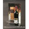 Buy cheap Plexiglass Sản phẩm rõ ràng Acrylic Rượu Chủ Với Chủ Poster from wholesalers