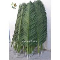 China UVG 2 meters wholesale material uv artificial palm leaves for park decoration PTR041 wholesale