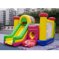 China Outdoor Kids Inflatable Bouncy Castle With Slide And Pillars Inside Made Of Best Pvc Tarpaulin wholesale