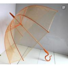 China Orange Transparent Bubble Umbrella/ Foldable UmbrellaFibreglass Frame / Ribs wholesale