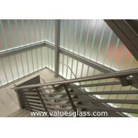 China Low Iron Tempered U Shaped Glass 262(W)X60(H)X7(T) Mm Dimension Building Material wholesale
