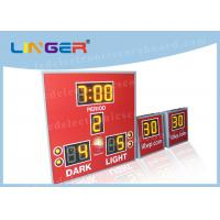 China Amber Color with 8'' 200mm Digits Led Electronic Scoreboard With Countdown Shot Clock wholesale