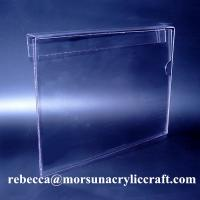 China Hanging A4 Plexiglass Ticket Holder PMMA Poster Holder Clear Acrylic Price Holder wholesale