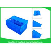 Quality Mesh Collapsible Plastic Containers with Attached Lids / Package Folding Plastic Crates wholesale