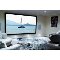 China Home Cinema 150 Wall Mount Fixed Frame Projector Screen With HD Matte White wholesale