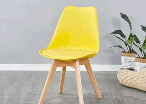 China Oasis Colored PU Dining Chair , Beech Wood Upholstered Dining Chair wholesale