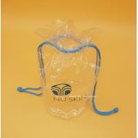 Buy cheap Cylinder Transparent PVC Drawstring Organizer Pouch For Comstics , Personal from wholesalers
