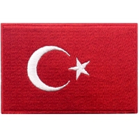China Durable Custom Velcro Turkey Flag Patch Iron On Patches South Africa wholesale