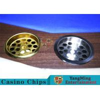 Copper Color Poker Table Accessories , Windproof Stainless Steel Ashtray for sale