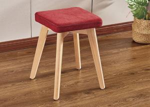 China Beech Leg Bedroom Dressing Chair Strong Structure No Smell wholesale