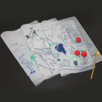 Buy cheap Children food grade erasable drawing placemat silicone table dining mat from wholesalers