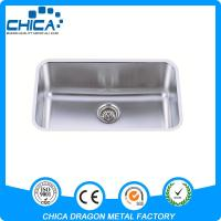 China stainless steel  single bowl kitchen sink for USA market with 18gauge and 16gauge on sale