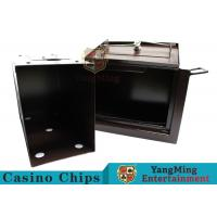 Luxury Double Lock Cash Holder Box , High Precision Security Casino Cash Box for sale