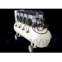 China 1.5KW 2HP Oil Free Piston Air Compressor , Low Noise Air Compressor With Wheels wholesale