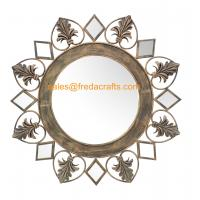 China Wholesale Eco-Friendly Europe Style Resom Decorated Handmade metal Antique Mirror wholesale