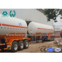 China Low Fuel Consumption Aluminium LPG Semi Trailer Customized Design wholesale