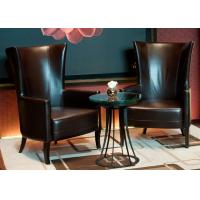 China Leisure Leather Chair Modern Lobby Furniture For 5 Star Hotel Public Area wholesale