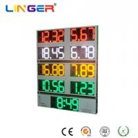 China 10 Inch Outside Digital Gas Price Signs Aluminium Frame / Iron Cabinet With Clock wholesale