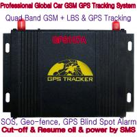 Quality GPS107A Professional Car Safety GPS Vehicle Tracker W/ Cut-off & Resume oil & power by SMS wholesale