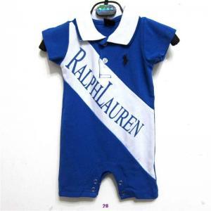 China New arrival hot sale 2014 Raulph Lauren designer baby's short cotton Clasp jumpsuits wholesale