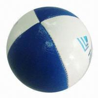 Quality Synthetic Leather Hacky Sack/Juggling Toy Ball, Available with Logo Printing for Promotional Purpose  for sale