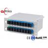 China Blade Type PLC Fiber Optic Splitter 2* Coupler 1*8 LGX Cassette With SC PC Connectors wholesale