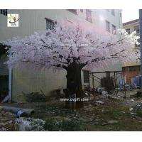 China UVG luxury wedding decoration design in huge artificial cherry blossom trees for photography backdrops CHR174 wholesale
