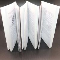 China Thick Adhesive Binding Saddle Stitched Booklet With Black / White Colour wholesale