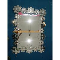 China European Style Glass Flower Decorated Rectangle Wall Wall Wholesale wholesale