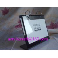 China Black L shape acrylic desktop calendar stand / acrylic calendar display rack wholesale