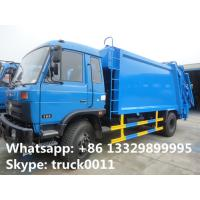 China 2019s best price dongfeng 12cbm garbage compactor truck for sale, hot sale dongfeng refuse garbage truck for sale on sale