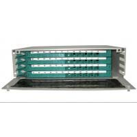 China Stainless steel + ABS rack mounting ST, LC adaptors, 12 ports Fiber Optic ODF (48core) wholesale