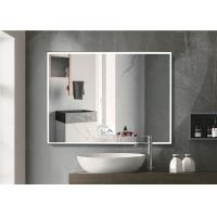 China Warm Light LED Bluetooth Bathroom Mirror With Explosion Proof Surface wholesale