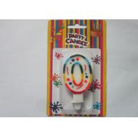 Quality Rainbow Novelty Number Birthday Candles Decorative Number Zero Candle for Party wholesale