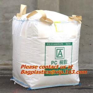China 100% PP Woven FIBC Jumbo Bags for Sand, fibc bulk bag with four loop bags, big jumbo bag, Cheap china fibc big bags wholesale