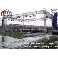 China Wedding Party Aluminum Stage Truss , Global Aluminum Square Truss Electronic Hoist wholesale