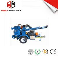 China 200M Protable Small Trailer  Hydraulic Water Well Drilling Rig Borehole Drilling Equipment wholesale